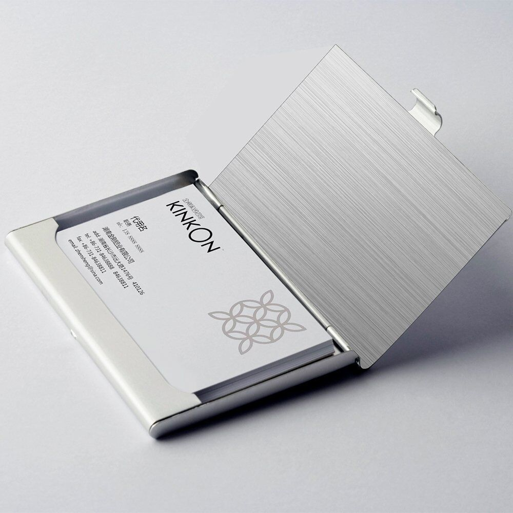Купить TIKA - Pocket Stainless Steel & Metal Business Card Holder Case ID Credit Wallet Silver