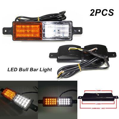 Pair of ABS Front Indicator Park LED Bull Bar Light Lamp Car Truck Yacht Trailer