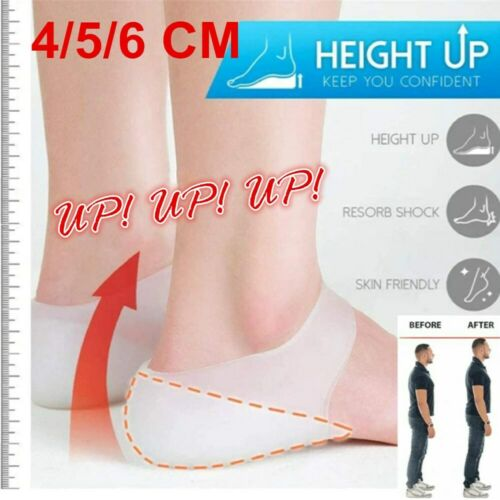 Insoles Pads Concealed Silicone Footbed Enhancers Invisible Height Increase USA Clothing & Shoe Care