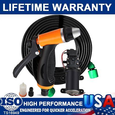 - 12V 80W High Pressure Self-Priming Electric Portable Wash Washer Kits Water Pump