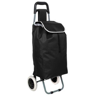 Einkaufstrolley Einkaufsroller | Trolley Roller Einkaufswagen | klappbar schwarz