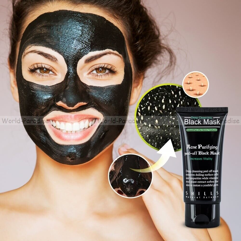 Masque de soin purifiant contre points noirs & acné Black mask peel off care !