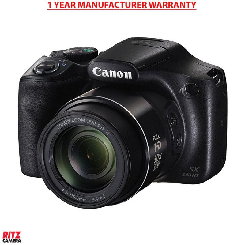 Canon PowerShot SX540 Digital Camera w/ 50x Optical Zoom - Wi-Fi & NFC (Black)