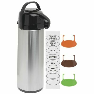 Airpot Coffe Server Thermal Coffee Dispenser 3l Stainless Steel Glass-lined Pump