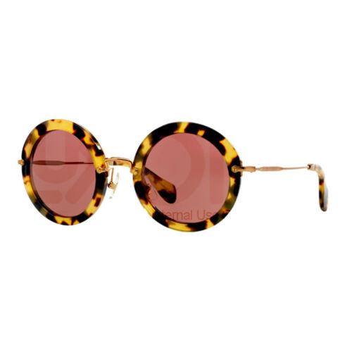 Miu Miu Sonnenbrille 13ns 7s00a0 Blonde Havanna Dunkel Braun Rot 0