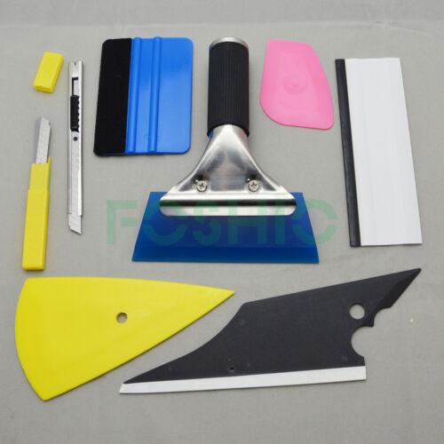 Car Parts - 8 PCS Car Window Tint  Wrapping Vinyl Tools Squeegee Scraper Applicator Kits