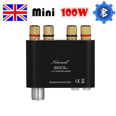 Nobsound Mini Power Amplifier Digital Audio Amp Bluetooth HiFi Stereo 100W Black