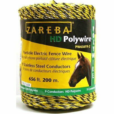 Zareba Pw656y9-z 200-meter 9-conductor Portable Electric-fence Polywire