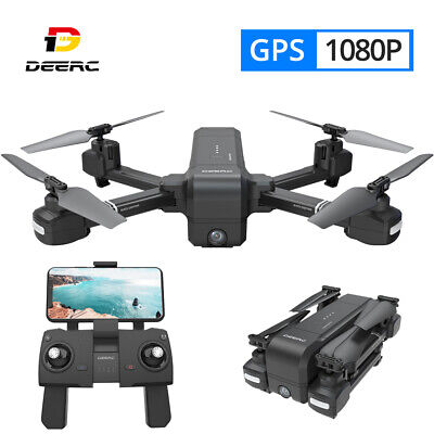 DE25 GPS drone with 1080P HD camera FPV foldable RC quadcopter selfie tapfly LED