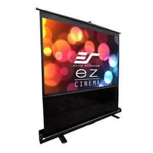 NEW Elite Screens ezCinema Series, 72-inch 4:3, Portable Floor Pull Up Projection Screen