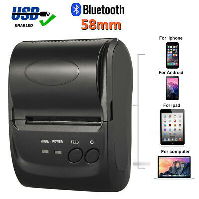 Mini 58mm Bluetooth Wireless Mobile Pos Thermal Receipt Printer Pos-5802dd Y0q2