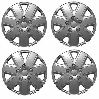 ALLOY LOOK SET OF 4 x 15 INCH SILVER WHEEL TRIMS COVERS HUB CAPS 15""