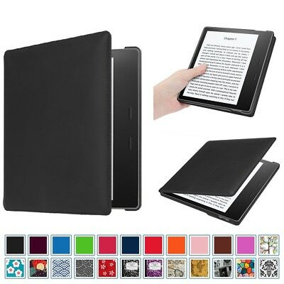 For Amazon Kindle Oasis 9th Gen 2017 Release Genuine Leather Slim Case Cover
