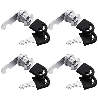 4 X Tubular Cam Lock 58 Keyed Alike For Drawer Cabinet Toolbox Rv Camper