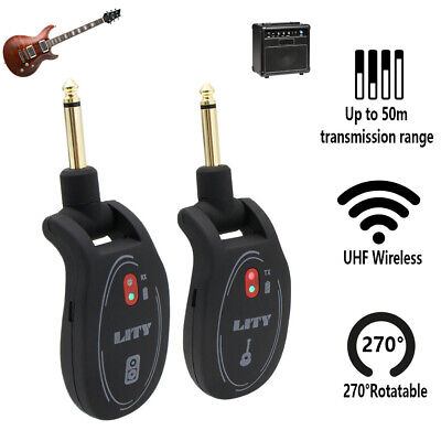 Wireless Guitar System Transmitter & Receiver rechargeable Battery US seller Wireless Guitar Microphone System