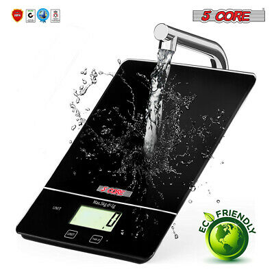 5 Core DIGITAL Touch Screen Glass Top KITCHEN Postal SCALE 5kg 11Lbs Food Diet Home & Garden