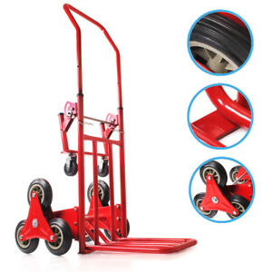 NEW 6 WHEEL 120KG STAIR CLIMBER CLIMBING CART HAND SACK TROLLEY REMOVAL TRUCK