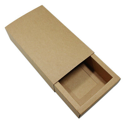 Kraft Drawer Box Handmade Soap Gift Craft Jewelry Packaging Brown Paper Boxes