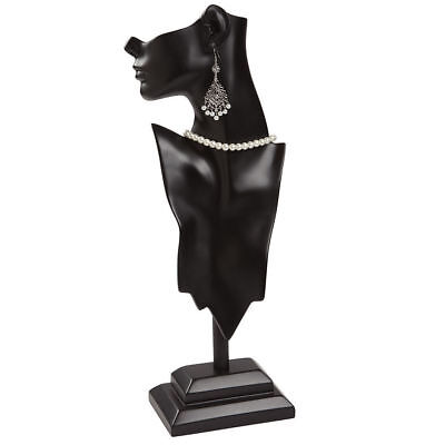 """Side Profile Necklace Earring Displays Black Showcase Jewelry 7 ½"""" x 20 ¼"""""""