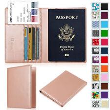 Premium PU Leather Travel Wallet Passport Holder RFID Blocking Cards Case Cover