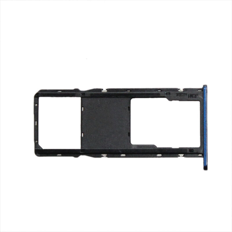 New Dark Blue Single SIM Micro SD Card Tray Dual for Motorola Moto G7 Power