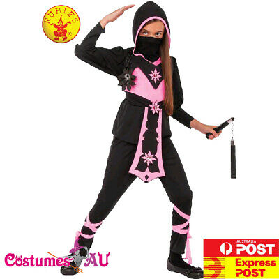Girls Pink Ninja Costume Japanese Assassin Child Warrior Book Week Kids Outfits - Ninja Girl Outfits
