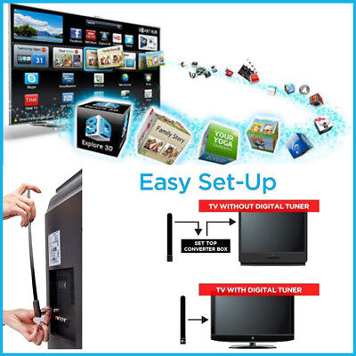 1x Clear TV Key HDTV Free TV Stick Satellite Indoor Digital Antenna Ditch Cable