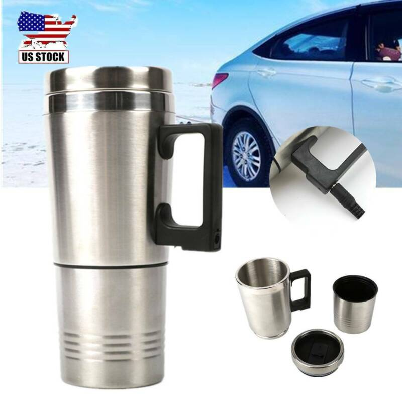 500ML Portable Heating Cup Stainless Steel 12V Electric In-C