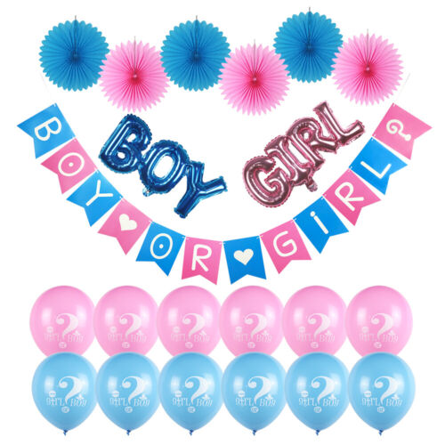 Gender Reveal Party Supplies, 21 PIECES Gender Reveal Balloons Decor Boy or Girl