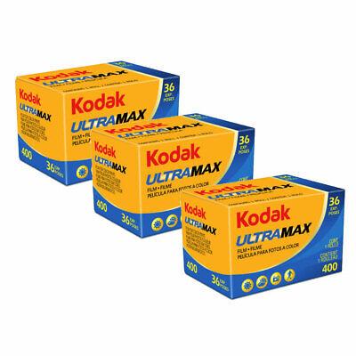 3 x Kodak UltraMax 400 Film 135 (36 Exp)