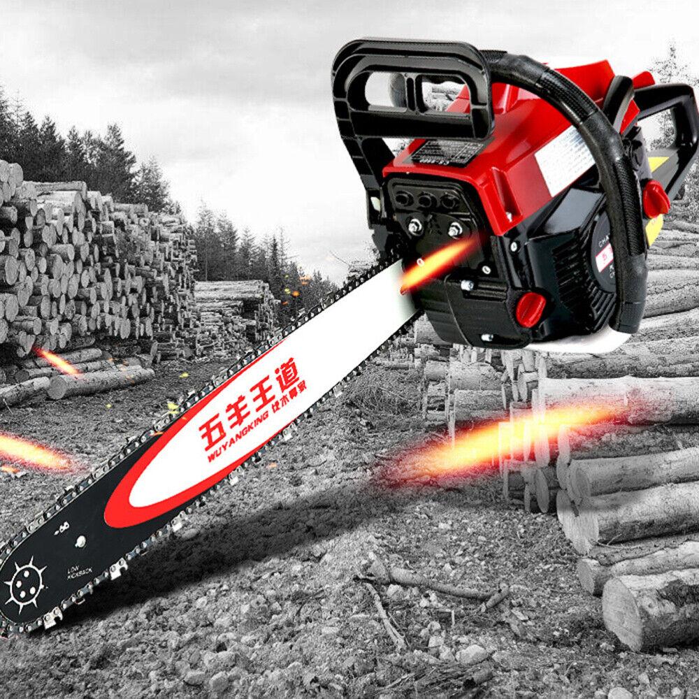 "62cc Chainsaw 20"" Bar Gasoline Powered Chain Saw Engine 2 Cy"