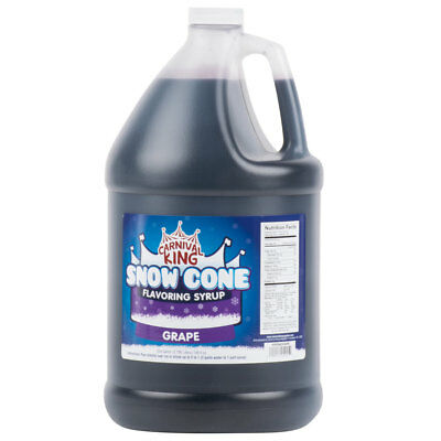1 Gallon - Carnival King - Grape Snow Cone Syrup - Shaved Ice Slushy Flavor