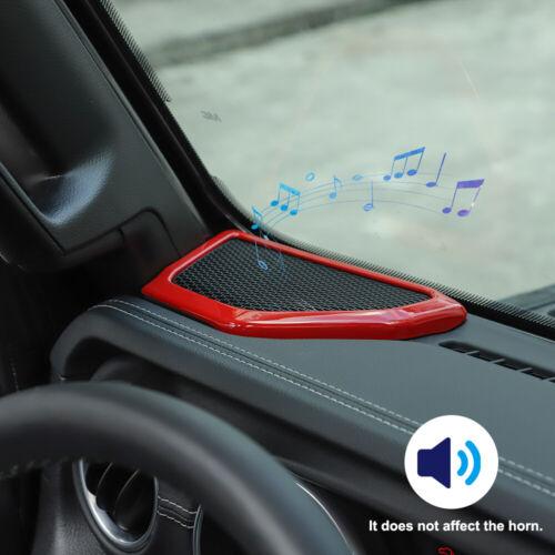 Pair ABS interior A Pillar Speaker Cover Frame Decor For Jeep Wrangler JL 2018