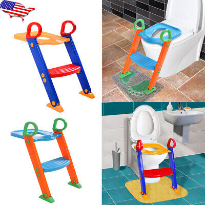 Child Toddler Toilet Chair Kids Potty Training Seat with Step Up Stool Ladder