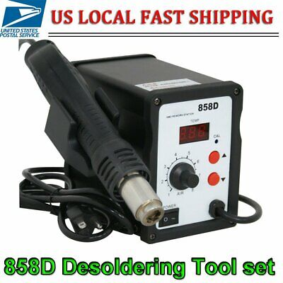858d Smd Digital Soldering Hot Air Gun Iron Desoldering Rework Station 700w