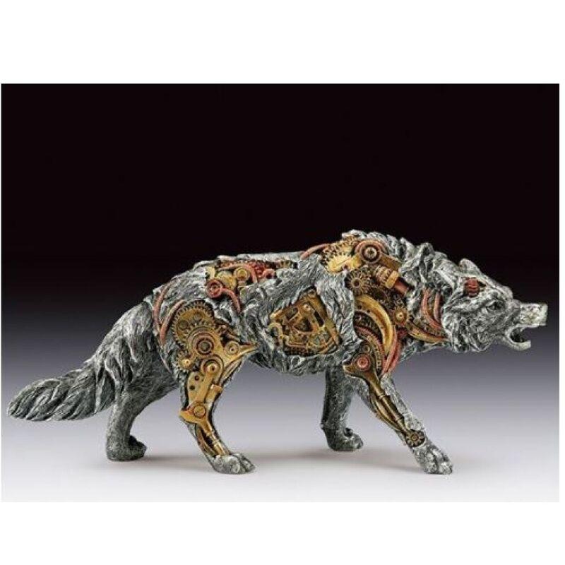 Steampunk Wolf Figurine