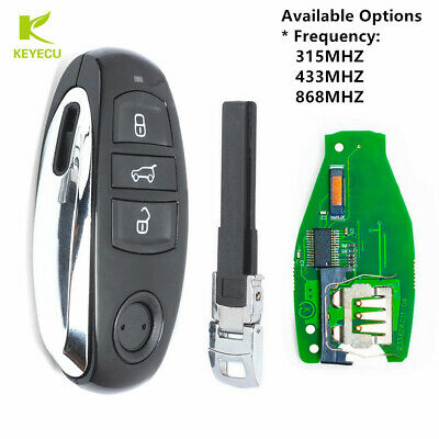 Replacement Remote Key Fob 3 Button for VW Volkswagen Touareg 2011-2014 2015