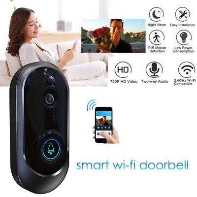 Smart Wireless WiFi Doorbell HD Camera IR Video Phone Intercom Home Security