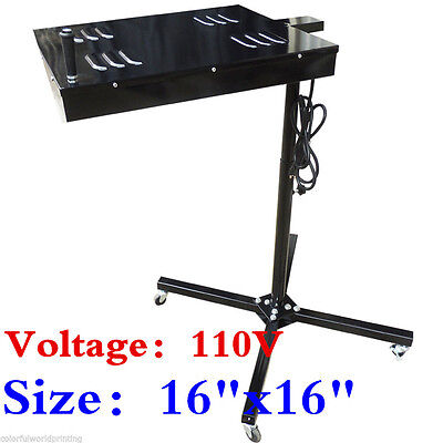 110v 16x16 Flash Dryer Screen Printing Equipment Adjustable Stand T-shirt Cure