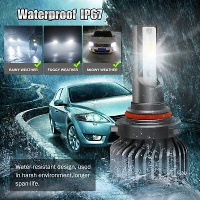 hotbefote 9006 HB4 LED Headlight Bulb Kit Low Beam 6000K 60W 7600LM White Light