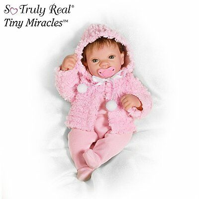 So Truly Real ASHTON DRAKE Tiny Miracles MARTHA VIOLA Baby Doll NEW