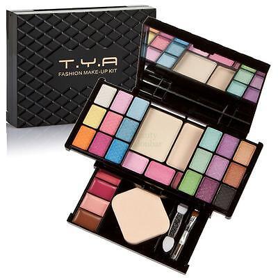 Pro Makeup Kit Eyeshadow Foundation Concealer Blush Blusher Powder Lip Gloss Set
