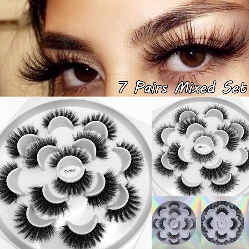 Natural Long False Eyelashes Lash Extension 3D Faxu Mink Las