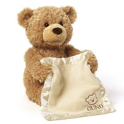 Gund Peek-A-Boo Teddy Bear Animated Stuffed Animal, New, Free Shipping
