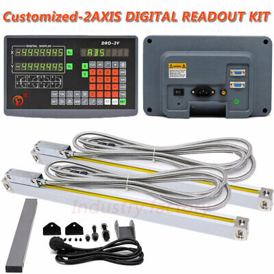 Customized Linear Scales 2axis Digital Readout Dro Bridgeport Mill Position Tool