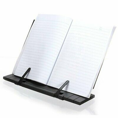 Black Portable Steel Book Reading Desk Stand Adjustable Document Holder Files