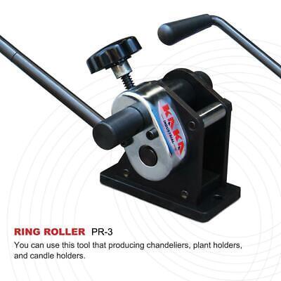 Kaka Industrial Pr-3 Manual Plate Steel Ring Roll Bender 3 Diameter Portable H