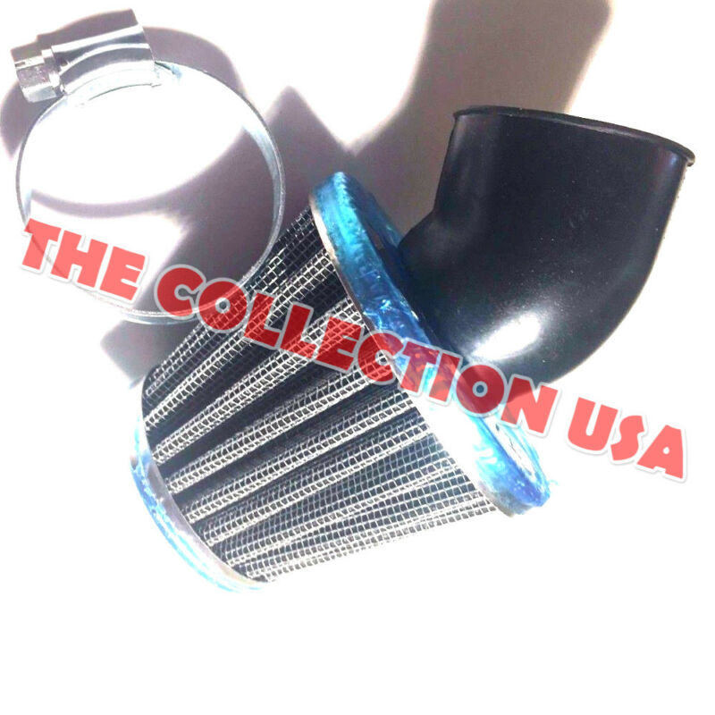 35MM K/&N STYLE 30 DEGREE ELBOW BEND AIR FILTER 50CC-110CC ATV GO KART DIRT BIKE
