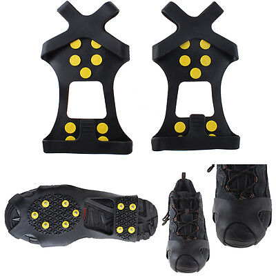 Non-slip snow cleats Anti-Slip overshoes Studded Ice Traction shoe covers S Size
