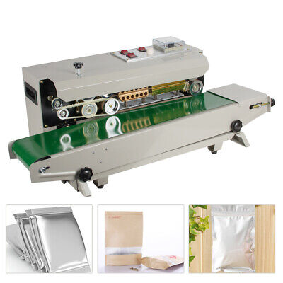 Automatic Horizontal Continuous Plastic Bag Film Band Sealing Sealer Machine USA Continuous Bag Sealer